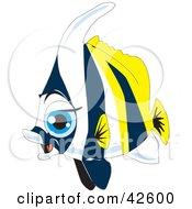 Clipart Illustration Of A Big Blue Eyed Marine Fish