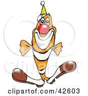 Clowny Clown Fish Wearing A Red Nose And Party Hat