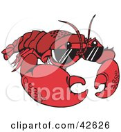 Clipart Illustration Of A Cool Lobster Wearing Shades by Dennis Holmes Designs