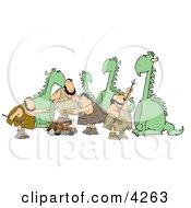 DinosaursAmpCavemen Clipart by djart