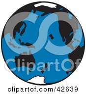Clipart Illustration Of A Blue White And Black Planet Earth