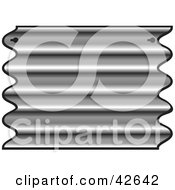 Clipart Illustration Of A Ridged Iron Plate