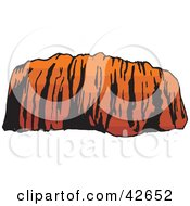 Clipart Illustration Of Ayers Rock In Evening Light by Dennis Holmes Designs