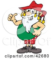 Clipart Illustration Of Santa Claus Giving The Thumbs Up Wearing Casual Clothes And An Aussie Hat by Dennis Holmes Designs #COLLC42680-0087