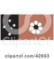 Clipart Illustration Of A Brown White And Black Northern Territory Flag With Southern Cross Stars