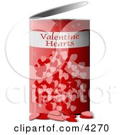 Can Of Valentine Hearts Clipart by Dennis Cox
