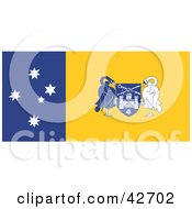 Clipart Illustration Of A Blue Yellow And White Flag Of The Australian Capital Territory