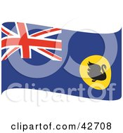 Clipart Illustration Of A Swan On A Waving Western Australia Flag