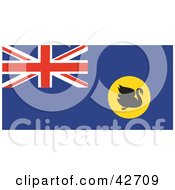 Clipart Illustration Of A Swan On The Western Australia Flag by Dennis Holmes Designs