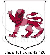 Tasmania Coat Of Arms With A Red Lion