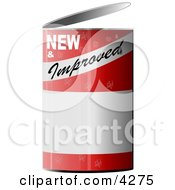 NEW And Improved Can Of Clipart