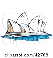 Clipart Illustration Of The Sydney Opera House In Australia by Dennis Holmes Designs