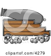 Cannon And Cannonballs Clipart