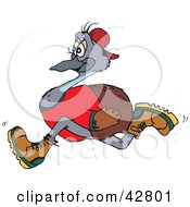 Clipart Illustration Of A Running Emu Bird In Profile