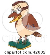 Clipart Illustration Of A Kookaburra Bird Wearing Green Shoes