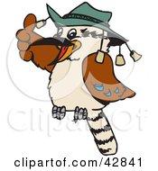 Clipart Illustration Of An Aussie Kookaburra Bird Wearing A Hat