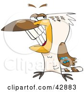 Clipart Illustration Of A Handsome Grinning Kookaburra Bird by Dennis Holmes Designs