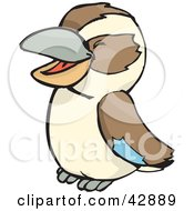 Clipart Illustration Of A Giggling Cute Kookaburra Bird by Dennis Holmes Designs
