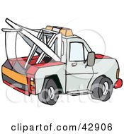 Clipart Illustration Of A Side View Of A Tow Truck