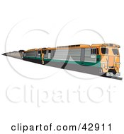 Clipart Illustration Of An Industrial Coal Train