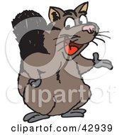 Clipart Illustration Of A Presenting Possum