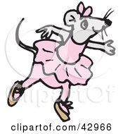 Clipart Illustration Of A Ballerina Mouse Dancing