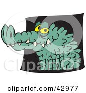 Clipart Illustration Of A Grinning Croc Head