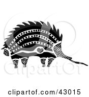 Clipart Illustration Of An Aboriginal Designed Spiny Anteater Echidna