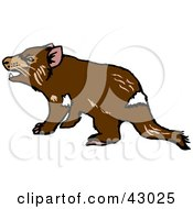 Clipart Illustration Of A Grumpy Tasmanian Devil by Dennis Holmes Designs