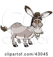 Clipart Illustration Of An Old Smiling Donkey by Dennis Holmes Designs