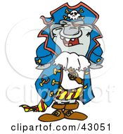 Clipart Illustration Of A Laughing Pirate Shark
