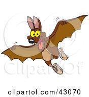 Cute Flying Brown Bat