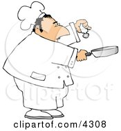 Male Chef Holding A Salt Shaker And A Skillet