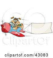 Clipart Illustration Of A Dog Pilot Flying A Plane With A Blank Banner