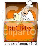 Food Recipe Box Clipart by Dennis Cox