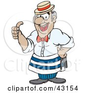 Clipart Illustration Of A Friendly Barber Giving The Thumbs Up