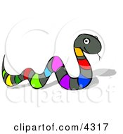 Multi Colored Snake Clipart by djart