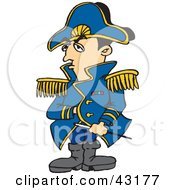 Clipart Illustration Of Napoleon Bonaparte With His Hand Inside His Jacket by Dennis Holmes Designs