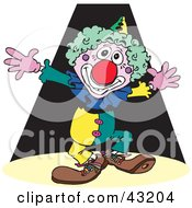 Clipart Illustration Of A Happy Clown Putting On A Show