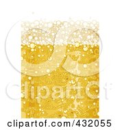 Royalty Free RF Clipart Illustration Of A Background Of Champagne Bubbles With Happy New Year Text