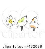 Happy Flower Leaf And Pear