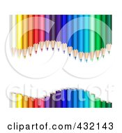 Wavy Colored Pencil Border