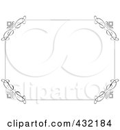 Royalty Free RF Clipart Illustration Of A White Certificate With A Black Elegant Border by KJ Pargeter