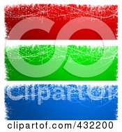 Royalty Free RF Clipart Illustration Of A Digital Collage Of Red Green And Blue Magical Christmas Or Winter Website Banners