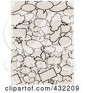 Royalty Free RF Clipart Illustration Of A Grungy Scratched Background Of Gray Word Balloons