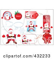 Royalty Free RF Clipart Illustration Of A Digital Collage Of Retail Santa Icons by Pushkin