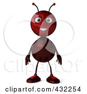 Royalty Free RF Clipart Illustration Of A 3d Ant Character