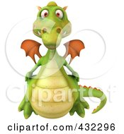 Royalty Free RF Clipart Illustration Of A 3d Dragon Flying Forward
