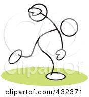 Stickler Man Throwing A Discus - 2
