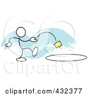 Stickler Man Tossing A Bag In A Circle - 1